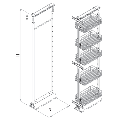 Vibo Wire Pantry Pull-Out Unit